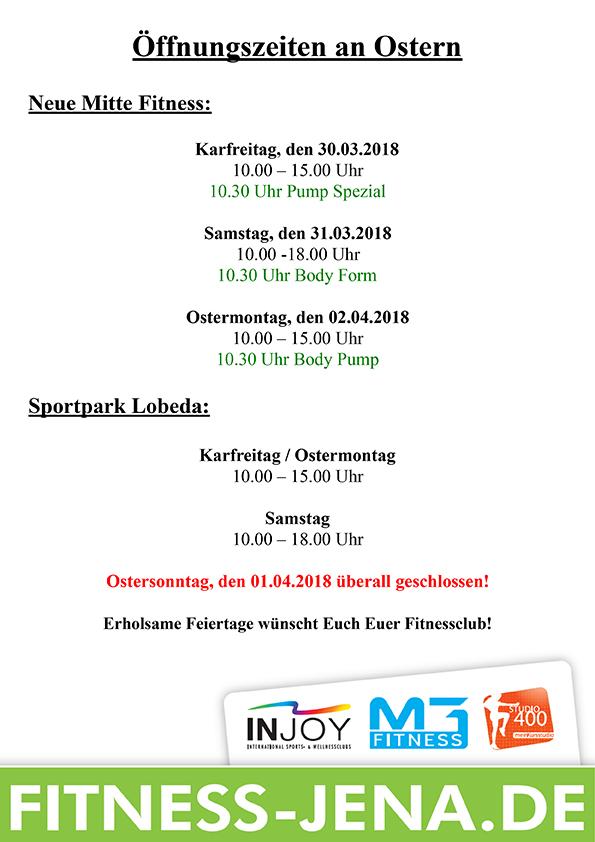 Öffnungszeiten an Ostern 2018