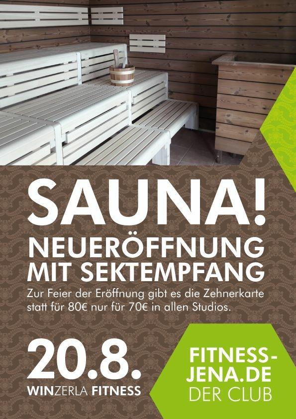 Neueröffnung Sauna im Winzerla Fitness